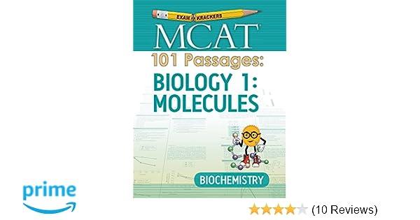 Examkrackers mcat 101 passages biology 1 molecules biochemistry examkrackers mcat 101 passages biology 1 molecules biochemistry jonathan orsay 9781893858916 amazon books fandeluxe Images