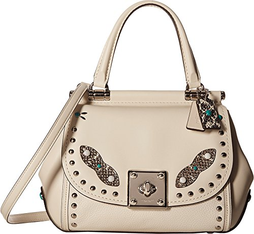 COACH Women's Western Rivets Drifter Top-Handle Chalk Handbag
