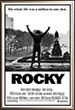 FRAMED Classic Movie - Rocky Balboa 24x36 Poster in Real Wood Premium Gold Mist Detail Finish Crafted in USA