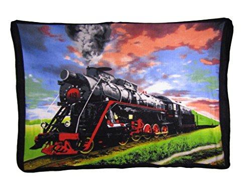 Locomotive Train Steam Engine Scene 50x60 Polar Fleece Blanket - Scene Fleece Blanket