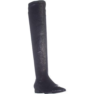 Amazon.com | Ivanka Trump Womens Alie 2 Metallic Pointed Toe Over-The-Knee Boots | Over-the-Knee