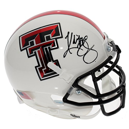 Kliff Kingsbury Autographed Texas Tech Red Raiders White Mini Helmet - JSA Certified Authentic - Autographed Mini Helmets