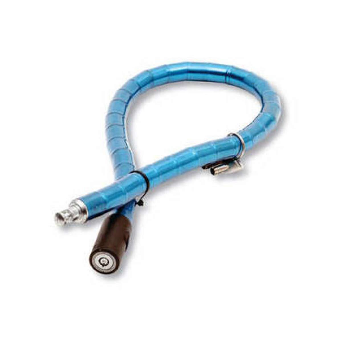 Tama/ño 22x1000mm S.L Candado Piton para Moto y Bicicleta Flexible con Llave Tubular de m/áxima Seguridad Color Azul. Piton antirrobo Cisne 2013