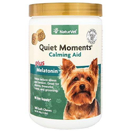 NaturVet Quiet Moments Calming Aid Plus Melatonin 180 Soft Chews