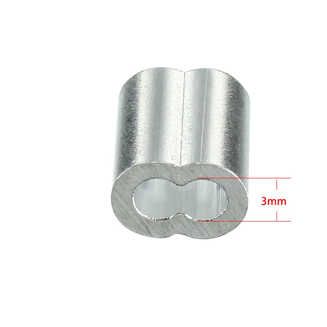 uxcell 5mm 1//5-inch Cable Wire Rope Aluminum Sleeves Clip Crimping Loop 50pcs