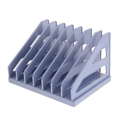sharplace 7 compartimentos organizador documentos plástico archivadores archivo revistero revistero revistero literatura Soporte Escritorio accesorios Memo
