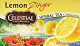 found beverage co - Celestial Seasonings Herbal Tea, Lemon Zinger, 20 Count (Pack of 6)