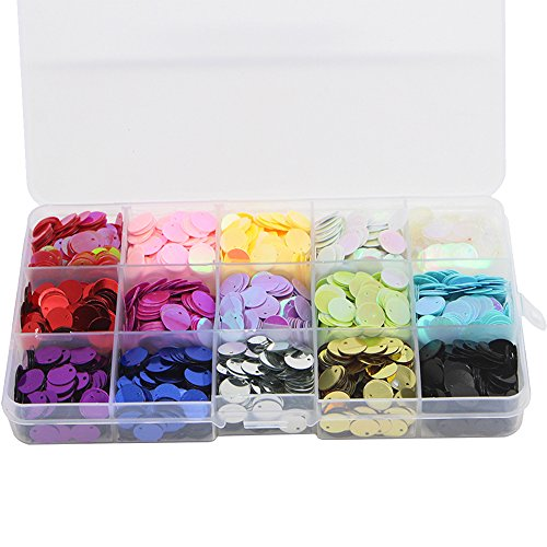 1box/lot 10mm Mixed 15 Colors Confetti Round Design