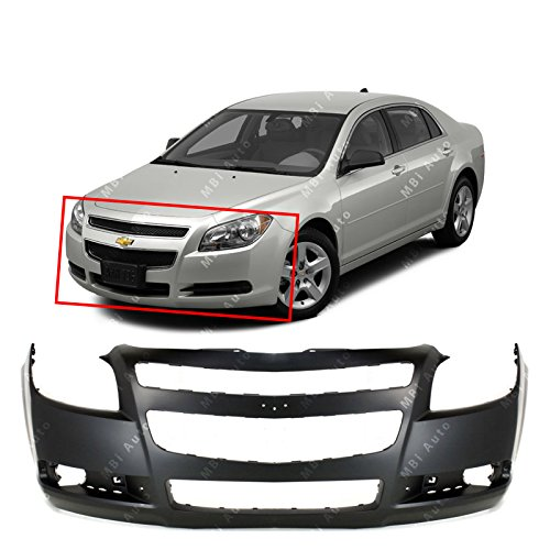 MBI AUTO – Primered, Front Bumper Cover Fascia for 2008 2009 2010 2011 2012 Chevy Malibu 08-12, GM1000858