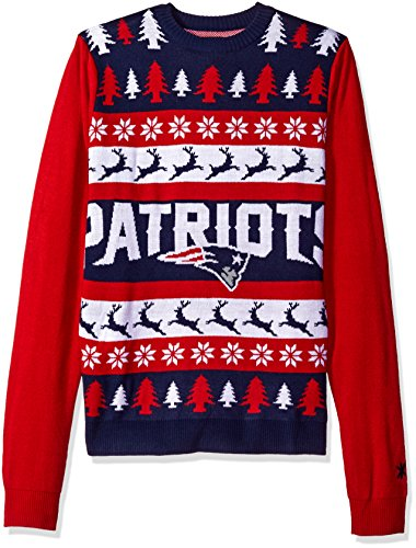 New England Patriots One Too Many Ugly Sweater Large