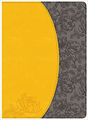 Holman Study Bible: NKJV Edition, Canary/Slate Grey, LeatherTouch
