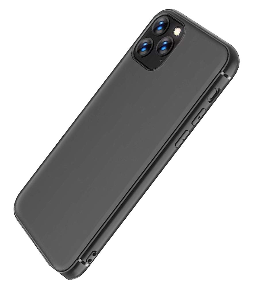 iPhone 11 Pro Max 6.5 INCH Black Case- Lightweight Ultra Soft Shockproof TPU Gel Durable Protective Phone Case-SLS Life