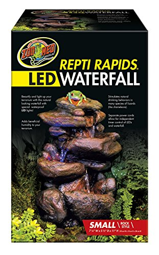 - Zoo Med Labratories Repti Rapids LED Rock Waterfall, Small