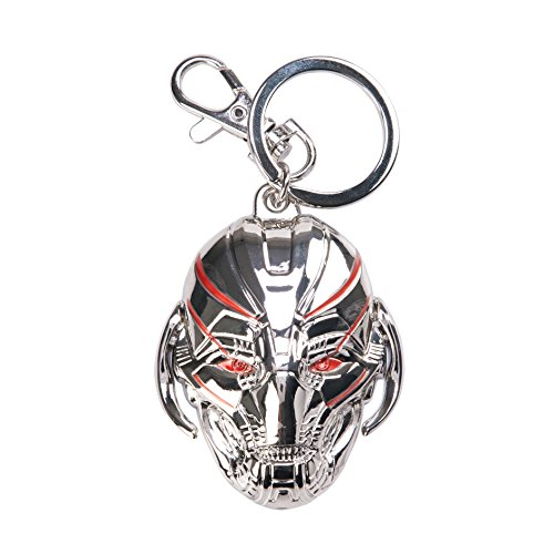 Marvel Avengers 2 Ultron Head Colored Pewter Key Ring Action Figure ()