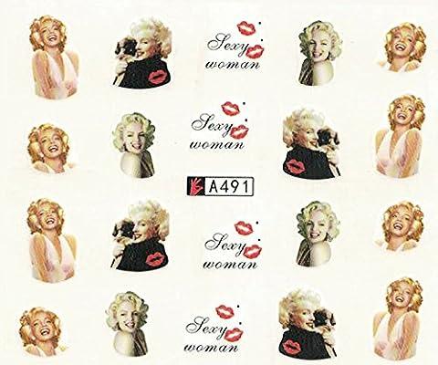 308 Pegatinas Calcomanías Unas Tatuajes Vistoso Marilyn Monroe ...