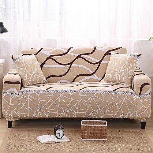 RUGAI-UE Sofa Slipcover elastic sofa cover full cover fabric antiskid leather sofa cover summer sofa cushion,Four persons (235-310) CM,Other life