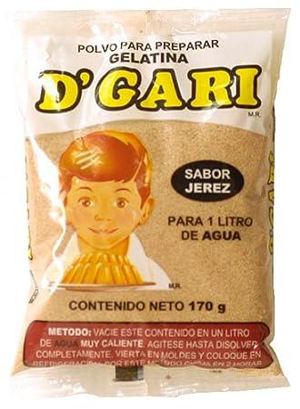 DGari Gelatin Dessert - Sherry/Jerez Flavor
