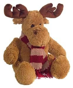 Brauns-Heitmann 82656 - Alce de peluche con bufanda, color marrón