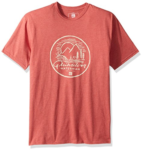 Quiksilver Waterman Men's Secret Point Tee, Mineral Red Heather, M Quiksilver Mens Point
