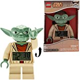 LEGO Star Wars Yoda Kids Minifigure Light Up Alarm Clock | green/brown | plastic | 7 inches tall | LCD display | boy girl | official