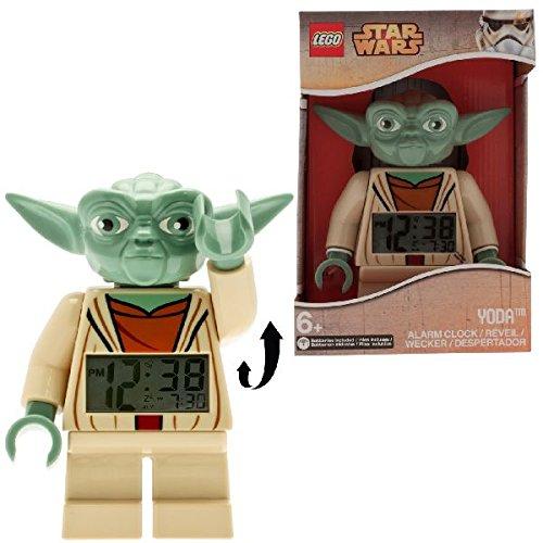 Despertador con luz infantil con figurita de Yoda de LEGO Star Wars;