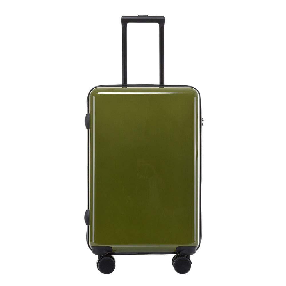 スクラッチプルーフユニバーサルホイールトロリーケース24インチスーツケース20インチボーディングソリッドカラーサンディングボックス (Color : 緑, Size : 20 inches)   B07R6PK3J8