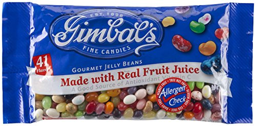 Gimbal's Allergen-Free Fine Candies Gourmet Jelly Beans, 41 Flavors, Real Fruit Juice! Kosher Pareve