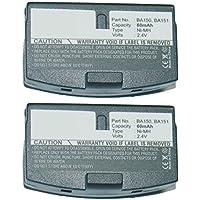 2x Exell Battery Replaces Sennheiser Headset BA150 BA151 WEST-BA151 CPH-522 SET- 820S SET- 810 SET- 810S SET- 250 SET- 250J A200 RI250 RI250-J RI250S HDI302 A200 RS-30 RS-40 RS-45 RS-65 RA-85 R150