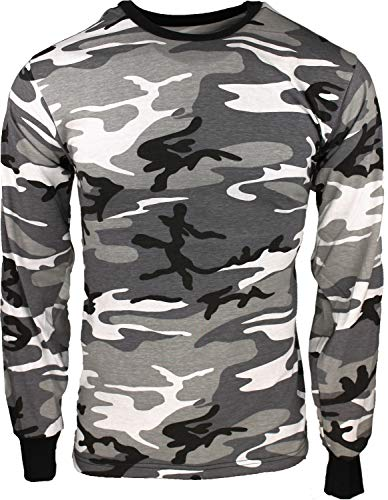 - Army Universe City Camouflage Long Sleeve Military T-Shirt Pin - Size 2X-Large (49