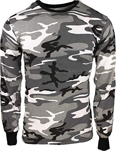 amouflage Long Sleeve Military T-Shirt Pin - Size X-Large (45