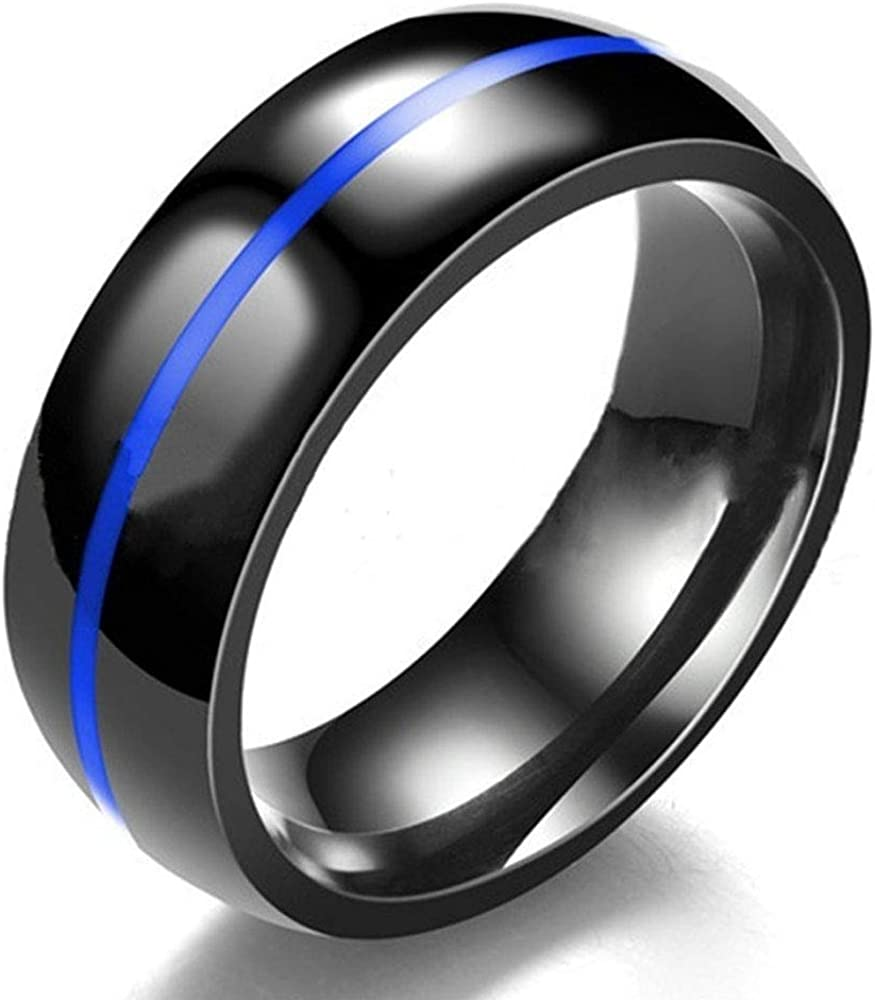AONEW His Her Couples Ring Solitaire Blue Sapphire Cubic Zirconia Women Wedding Engagement Ring Set /& Mens Two Tone Stainless Steel Wedding Band【Buy Two Rings for One Pair】