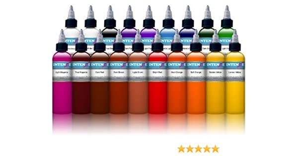 Amazon.com: INTENZE TATTOO INK 19 COLOR SET 1 oz bottle - 100 ...
