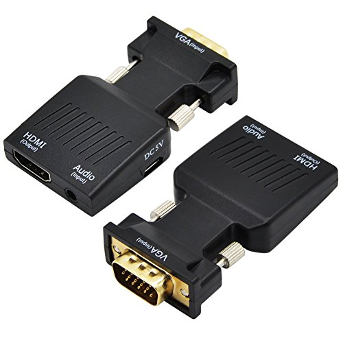 ValinksVGA Male to HDMI Female Converter Adapter Full HD 1080P,VGA to HDMI Audio Video Converter with 3.5mm Audio Port & USB Power Cable for Computer, Desktop, Laptop, PC, Monitor, Projector by VAlinks (Image #6)
