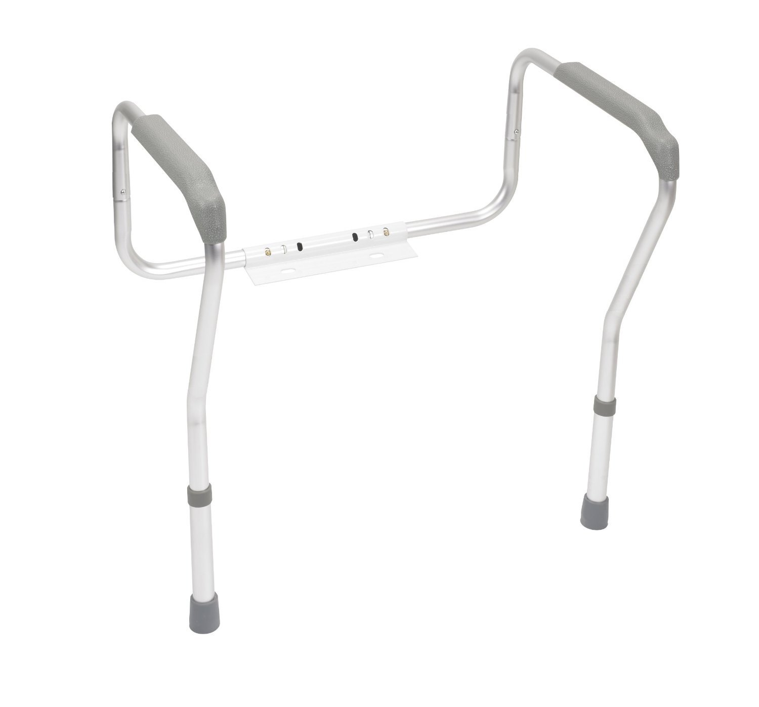 Safety grab bars adjustable toilet safety rail seat - Handicap bars for bathroom toilet ...