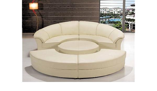 Amazon Com Contemporary Plan Modern Circle Sectional Sofa Set With