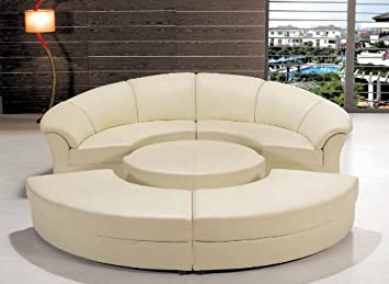 Amazon.com: Contemporary Plan Modern Circle Sectional Sofa ...