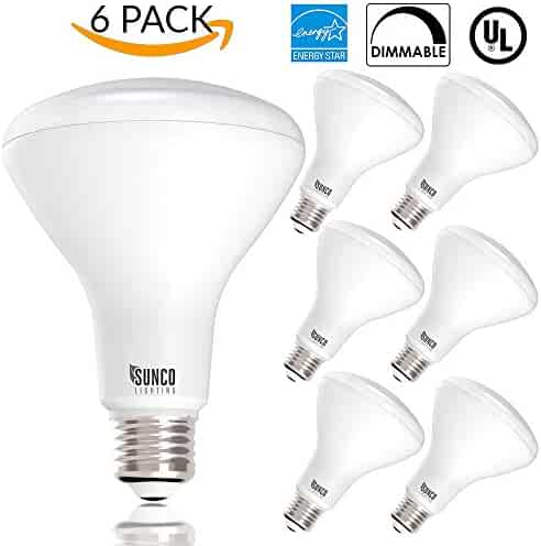 Sunco Lighting 6 PACK- BR30 LED 11WATT (65W Equivalent), 3000K Warm White, DIMMABLE, Indoor/Outdoor Lighting, 850 Lumens, Flood Light Bulb, UL & ENERGY STAR LISTED