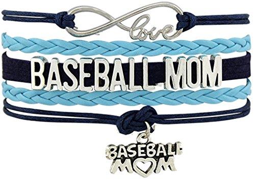 lipsbrooch BASEBALL MOM Boy Girl Sports Sport Love Charm Bracelet Gift Infiniti Jewelry