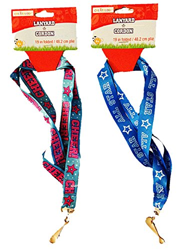All Star Key Tag - Cheers & All Stars Lanyards (Set of 2)