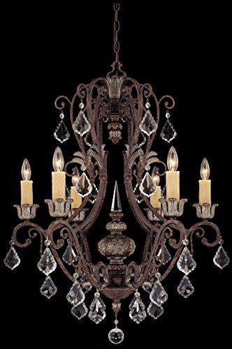 Savoy House 1P-1551-6-8  Elizabeth 6-Light Chandelier in Tortoise Shell w/Silver
