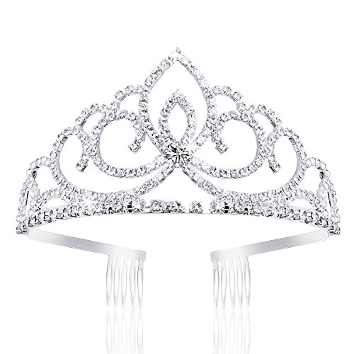 ANBALA Tiara Crowns, Rhinestone Crystal Queen Tiara Headband Wedding Pageant Crowns Princess Crown for Women Girls