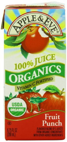Apple & Eve Organic Juice, Fruit Punch, 3 Count, Pack of (Organic Choice Fruit)
