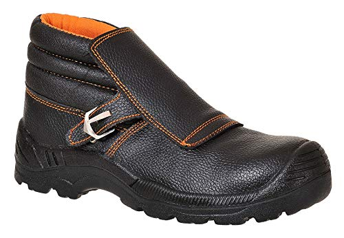 Portwest FW07BKR42 Compositelite Welders Boot, US Size 9 Split Leather, Black by Portwest (Image #1)