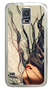cheap Samsung S5 cover Girl Art Designs PC Transparent Custom Samsung Galaxy S5 Case Cover