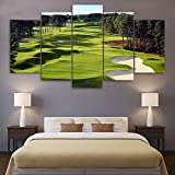Canvas Paintings Printed 5 Pieces Golf Course Wall Art Canvas Pictures For Living Room 5 pcs print posters