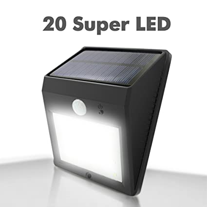 Amazon solar powered lights outdoor garden e feel 20 led solar powered lightsoutdoor garden e feel 20 led weatherproof wall lights with best aloadofball Images