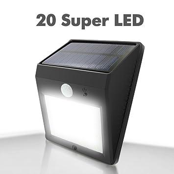 Amazon solar powered lights outdoor garden e feel 20 led solar powered lightsoutdoor garden e feel 20 led weatherproof wall lights with best aloadofball Choice Image