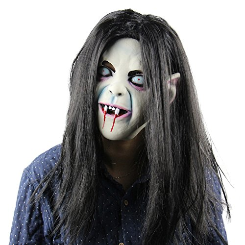 Zombie Halloween Mask Scary Latex Head Mask Bloody Cosplay Costume Full Face Mask for Carnival Festival Ball Party by Yunhigh ()