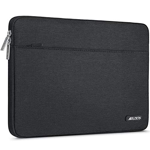 MOSISO Laptop Sleeve Bag Only Compatible with MacBook 12 inch A1534 with Retina Display 2017/2016/2015 Release, Spill Resistant Polyester Horizontal Protective Carrying Case Cover, Black