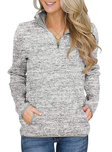 AlvaQ Womens Juniors Casual Long Sleeve Loose Oversized Floral Printed Color Block Pullover Sweatshirt with Pockets Outwear Grey Small (Brand Clothing Women Name)